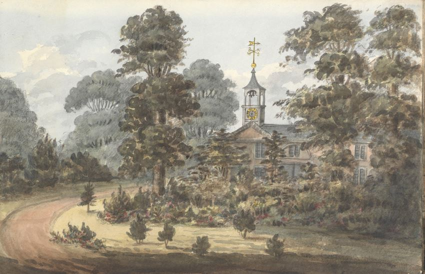 From portico of Wanstead Grove 1825