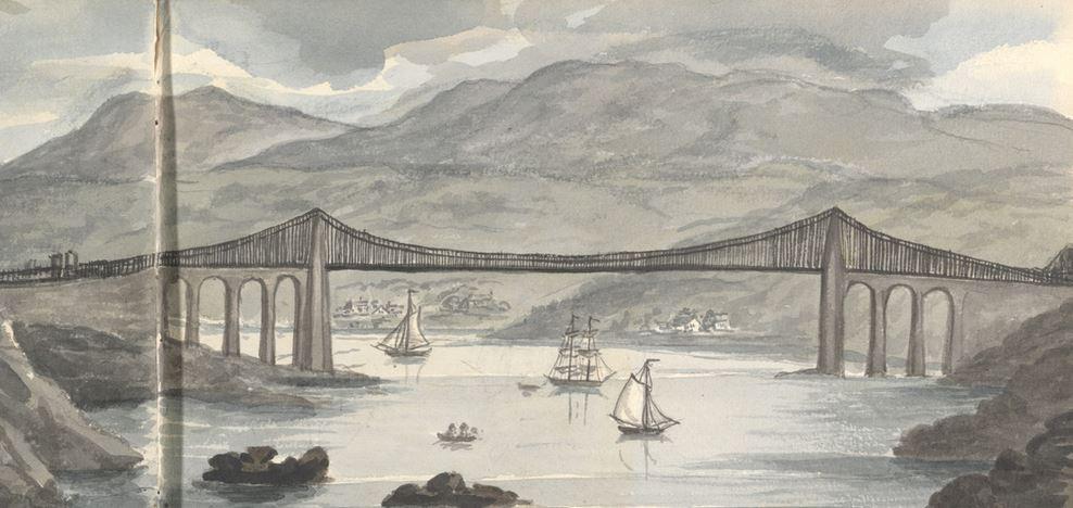 Menai Bridge 1830