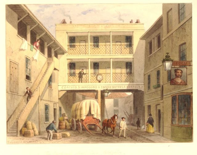 Saracens Head Aldgate 1855 - London coaching inn